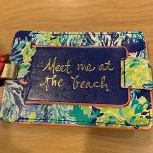 Lilly Pulitzer Luggage Tag Meet Me at The Beach